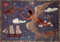 Themis Tsironis painting oil on wood