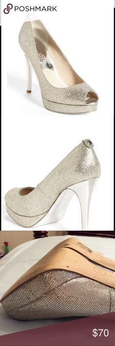 Michael kors york Silver. Pre-owned. Silver. Worn once for an event. MICHAEL Michael Kors Shoes Heels
