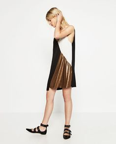 BLOCK COLOUR METALLIC DRESS-DRESSES-WOMAN | ZARA United States