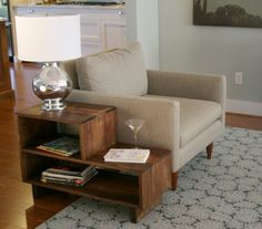 Mid Century Danish Modern Style End Side Table in Walnut #livingroom $415