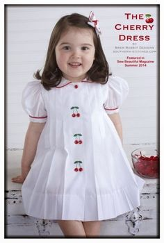 c0407bcc6 SewNso's Sewing Journal: The Cherry Dress Vestidos D Niña, Trajes Para Niños,  Moda