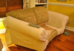 Delicieux EdibleCreativity: Tuck. Pin. Done: No Sew Loveseat Slipcover In 30