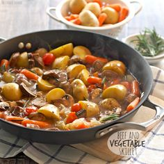 BEEF AND VEGETABLE SKILLET http://www.recipesfeedfood.com/beef-and-vegetable-skillet/