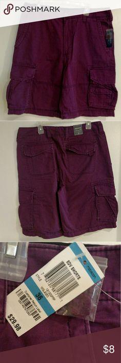 Shorts Man shorts purple color size 36 ,100% cotton, brand new American Rag Shorts Cargo