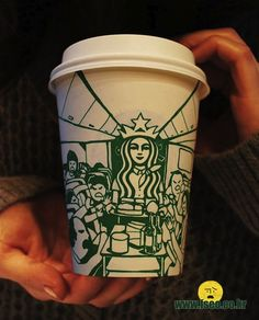Artist Draws On Starbucks Cups, Turns Mermaid Into Different Characters