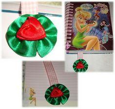 Maria Pimenta Crafts: Marcador de página Linda rosa