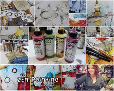 Zen Painting Workshop with Jodi Ohl Education Sites, Painting Courses, Flow Painting, Painting Workshop, Creative Workshop, Using Acrylic Paint, Online Painting, Whimsical Art, Art Blog