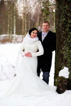 Real wedding in Finland, dress and jacket made by Pukuni (www.pukuni.fi)