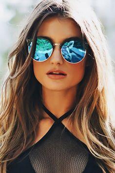 8b7bdd6a37e Road Ahead Reflective Sunglasses - Blue