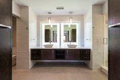 Factor(e) House 1 - modern - bathroom - other metro - CRFORMA DESIGN:BUILD/ mirror lighting