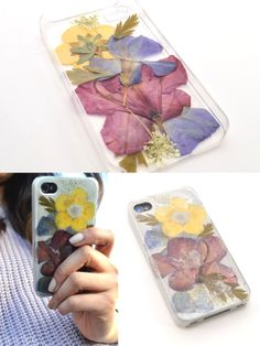 This pressed flower #DIY phone case lets you savor spring with every ring! A perfect gift for techie moms with a green thumb! #mothersday