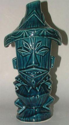 Disneyland Pele Tiki Mug Aquamarine - Ooga-Mooga! Tiki Mugs & More