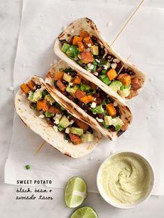 Sweet Potato Avocado Tacos Recipe