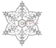 How To Knit: Crochet snowflakes, free crochet pattern Mandala Au Crochet, Crochet Snowflake Pattern, Crochet Motifs, Crochet Snowflakes, Crochet Diagram, Doily Patterns, Thread Crochet, Crochet Doilies, Crochet Flowers