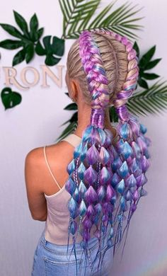Hair Dye Colors, Cool Hair Color, Braided Hairstyles, Cool Hairstyles, Rave Hair, Curly Hair Styles, Natural Hair Styles, Festival Hair, Rainbow Hair