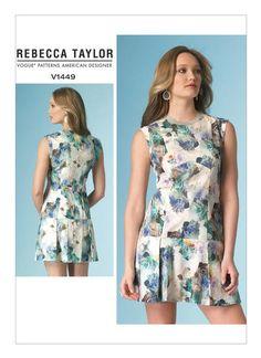Vogue 1449 Rebecca Taylor Sleeveless Drop Waist Mini Dress Pattern Choose Size Uncut by TheTasteLady on Etsy Vogue Dress Patterns, Vogue Sewing Patterns, Fashion Catalogue, Petite Dresses, Rebecca Taylor, Drop Waist, Mac, Petite Sizes, Notes