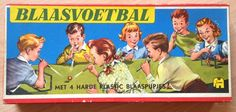 Jumbo - Blaasvoetbal spel - Jaren 50 Growing Up, Childhood, Family Guy, Baseball Cards, Guys, My Love, Fictional Characters, Crafts, Products