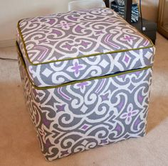 11 Best Recovering Vanity Stool Images Diy Ottoman