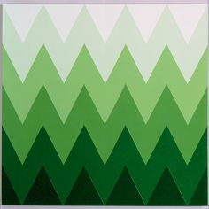 Staggered Landscape - Mark Dagley, 1994. Acrylic on canvas.