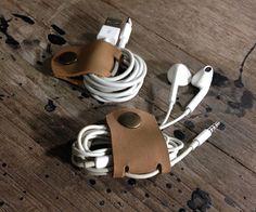 Soporte para cables hechos a mano cuero cordón por 896LeatherShop