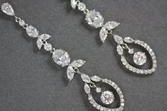Lotus leaf Cubic Zirconia crystal chandelier by simplychic93, $68.00