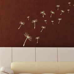 "Style and Apply Dandelion Wall Decal Size: 46"" H x 36"" W, Color: Silver"