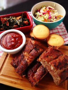Paleo Oven Baked Pork Ribs  @Anne Dann Cupboard