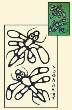 """- - - - - - - - - - - - - - - - - - - - - - - - - - - - - - - - - - """"Dragon Flies"""", © 1975 Norval Morrisseau /Click on image to view high..."""