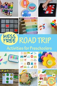 Mess-free Road Trip activities for kids - great for kids or all ages especially preschoolers from Kids Activities Blog.