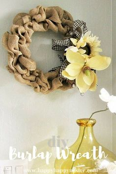 DIY Burlap Wreath Th