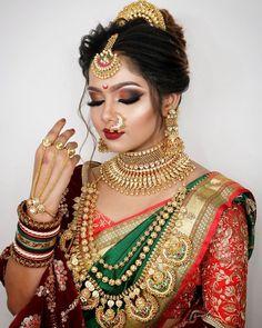 Bridal Makeup Images, Bridal Eye Makeup, Bridal Makeup Looks, Bride Makeup, Indian Eye Makeup, Indian Bridal Photos, Indian Bridal Outfits, Indian Bridal Fashion, Indian Bridal Wear