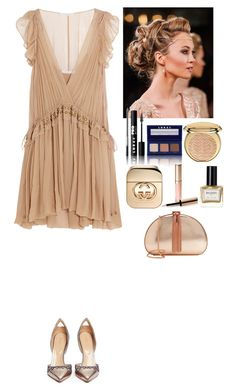 """""""Event"""" by eliza-redkina ❤ liked on Polyvore featuring Chloé, LORAC, Sergio Rossi, Christian Dior, Gucci, By Terry, Balmain and Ted Baker"""