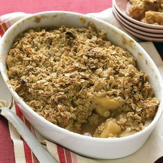 One of the definitive desserts of fall, apple crisp is easy and economical. Test kitchen tip: Empire, Gala, or Braeburn apples are especially good in this recipe.