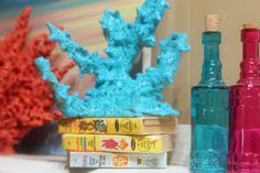 Make your own coral decoration without damaging a coral reef or breaking the bank! Here's how to do it on your own using ingredients you already own. Little Mermaid Parties, The Little Mermaid, Craft Projects, Projects To Try, Craft Ideas, Mermaid Room, Mermaid Nursery, Mermaid Diy, Sea Crafts