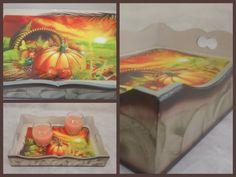 Thanksgiving Serving Wooden Tray Pumpkin by CLVLArtsBrazil on Etsy, $55.00
