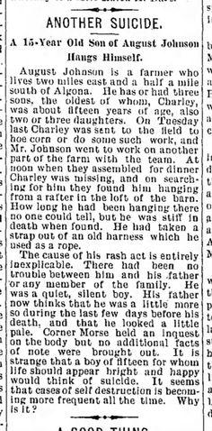 Johnson, Charlie O  Algona Courier (Algona, Iowa)  23 June 1899