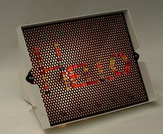 The original Lite Brite. Looooved Lite Brite (hated it when I step on one of the pegs though ... lol)