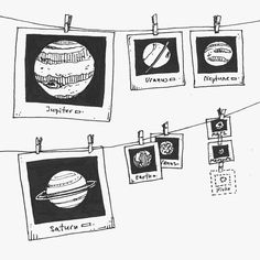 - - - Cameras and Accessories Space Drawings, Easy Drawings, Pencil Drawings, Planet Drawing, Dibujos Zentangle Art, Camera Drawing, Concours Photo, Pen Art, Comic Art
