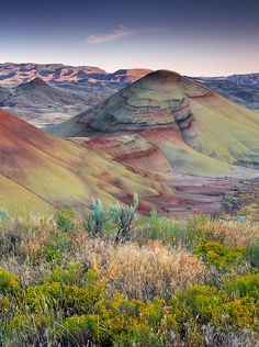Painted Hills Unit - John Day Fossil Beds National Monument in Mitchell. Plan your road trip to Painted Hills Unit - John Day Fossil Beds National Monument in OR with Roadtrippers. All Nature, Amazing Nature, Places To Travel, Places To See, Beautiful World, Beautiful Places, Voyage Usa, Formations Rocheuses, Painted Hills