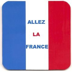 """Dessous de verre / sous-bock / sous-verre """" allez la France """" accessoire supporter de football"""