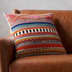 so boho. Inspired by our love of Peruvian textiles, this multi-pattern pillow st. so boho. Inspired by our love of Peruvian textiles, this multi-pattern pillow stitches together a traditional pattern in. White Fur Pillow, Navy Pillows, Leather Pillow, Silk Pillow, Velvet Pillows, Linen Pillows, Decorative Pillows, Throw Pillows, Accent Pillows