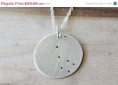 20% off Sale Constellation Necklace, North Star Necklace, Polaris, Sterling Silver