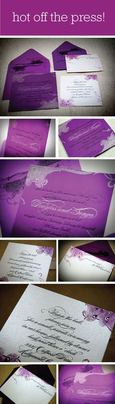 [ gorgeous + typography + illustration ]  Marie Antoinette Inspired Letterpress wedding invitations