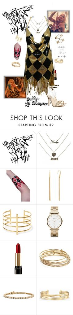 """Harley Quinn - SuicideSquad"" by gone-girl ❤ liked on Polyvore featuring Diane Von Furstenberg, BauXo, Marc by Marc Jacobs, Lancôme, Kate Spade, Blue Nile, Stella & Dot, GUESS, DC and harleyquinn"