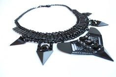 """The """"Adofo"""" necklace from our Black Collection."""