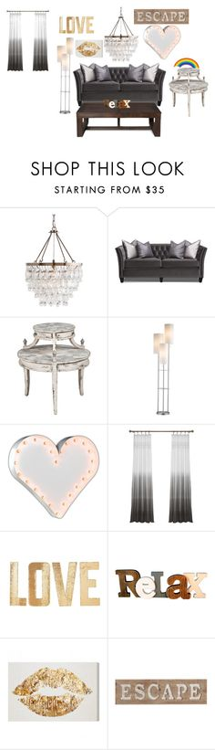 """""""Busy Livingroom"""" by aubreykreikemeier ❤ liked on Polyvore featuring interior, interiors, interior design, home, home decor, interior decorating, Vintage Marquee Lights, PBteen and Pier 1 Imports"""