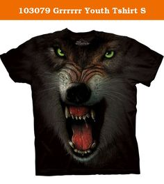 103079 Grrrrrr Youth Tshirt S. Top Quality, Pre-Shrunk, 100% Cotton. Hand Dyed in the USA with earth friendly, water based inks and dyes. Oekotex 100 Certified guarantees the shirt is free of chemicals harmful to your body. This is a unisex shirt that is a generous size that thrill most people. Men should order actual size. Youth sizes show the average age to fit the shirt.