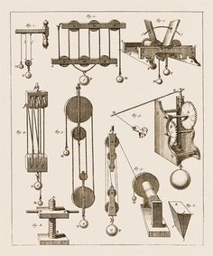 antique illustration to the essential laws of physics, 1700's