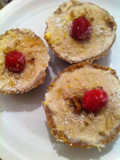 One of my first creations.. Lemon raspberry tarts