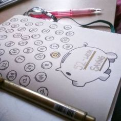 A bullet journal is a great way to stay on top of your finances and manage money. Try these fun bullet journal ideas Bullet Journal Agenda, Bullet Journal Savings, Bullet Journal Page, My Journal, Bullet Journal Inspiration, Journal Pages, Journal Ideas, Journals, Fitness Journal